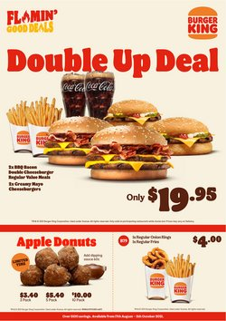 Restaurants offers in the Burger King catalogue ( 20 days left)