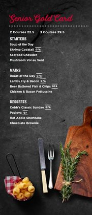 Restaurants offers in the Cobb & Co catalogue in New Plymouth