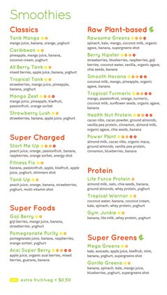 Restaurants offers in the Tank Juice catalogue in Auckland