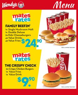 Restaurants offers in the Wendy's catalogue in Rolleston