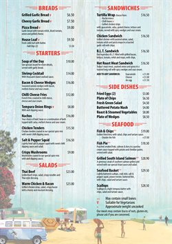 Offers from Breakers Cafe and Bar in the Hastings special