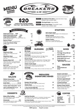 Breakers Cafe and Bar catalogue ( Expired )