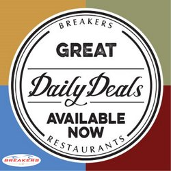 Restaurants offers in the Breakers Cafe and Bar catalogue ( Expires today)