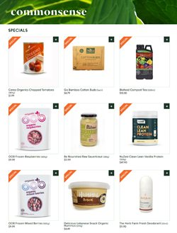Commonsense Organics catalogue ( Expired )