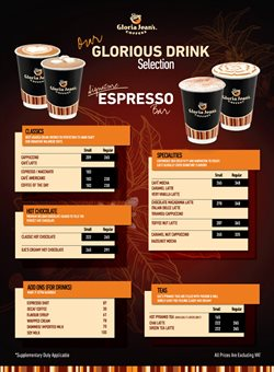 Gloria Jean's Coffees catalogue ( Expired )