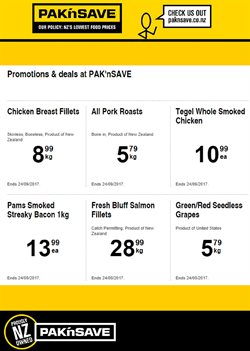 Offers from Pak n Save in the Auckland special
