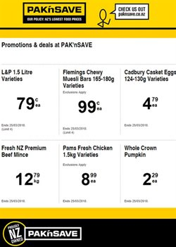Offers from Pak n Save in the Rangiora special