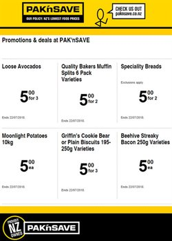 Offers from Pak n Save in the Christchurch special