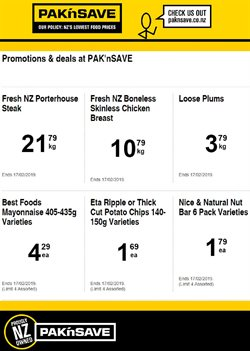 Offers from Pak n Save in the Rolleston special