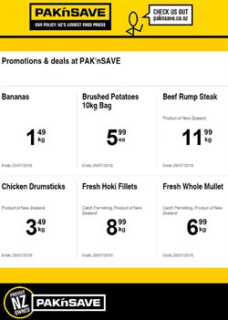 Offers from Pak n Save in the Tauranga special