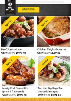 Supermarkets offers in the Mad Butcher catalogue in Auckland ( 3 days ago )