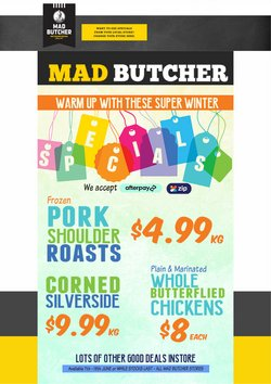 Mad Butcher offers in the Mad Butcher catalogue ( Expired)
