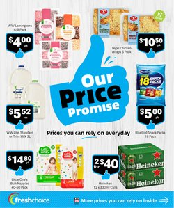 Supermarkets offers in the Fresh Choice catalogue ( 6 days left)