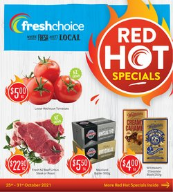 Supermarkets offers in the Fresh Choice catalogue ( Published today)