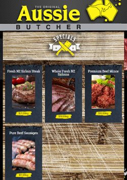 Offers from Aussie Butcher in the Auckland special
