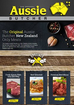Supermarkets offers in the Aussie Butcher catalogue in Auckland ( Expires tomorrow )