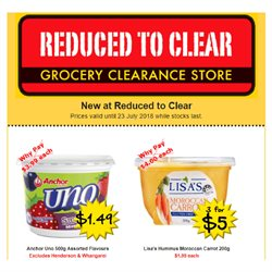 Grocery & Liquor offers in the Reduced To Clear catalogue in Auckland