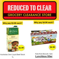 Offers from Reduced To Clear in the Auckland special