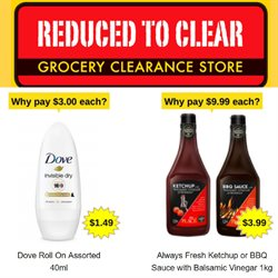 Offers from Reduced To Clear in the Wellington special