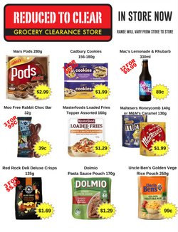 Supermarkets offers in the Reduced To Clear catalogue in Auckland ( 2 days ago )