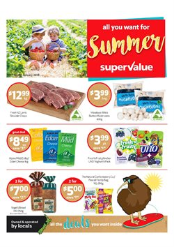 Offers from SuperValue in the Christchurch special