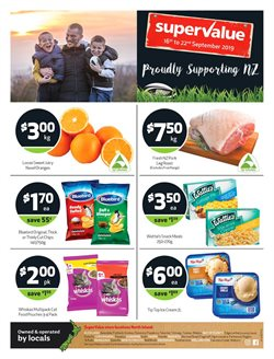Supermarkets offers in the SuperValue catalogue in Carterton