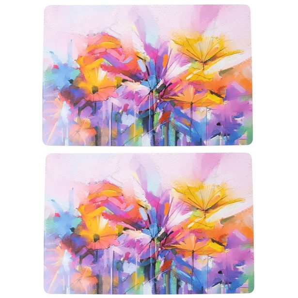 Just Home Bright Floral Placemat Set 2 offer at $29.99