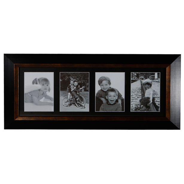 Image Multi Quadruple Photo Frame Black offer at $22.49