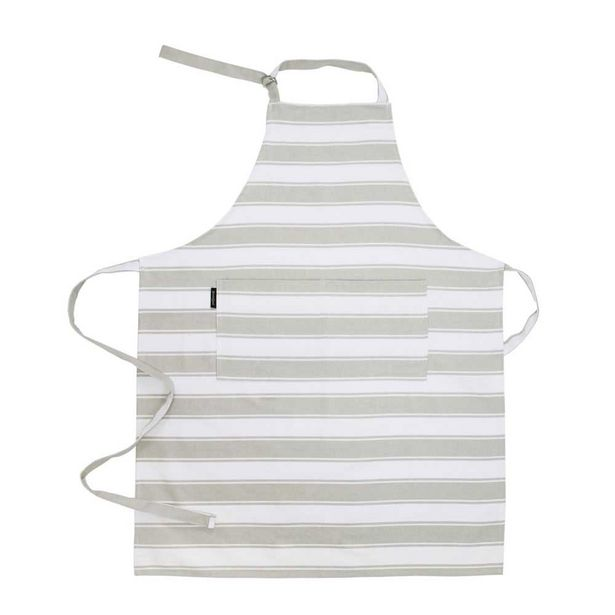 Simon Gault Butchers Stripe Apron Taupe offer at $11.99