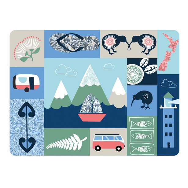 Just Home City Scape Placemat Set 6 offer at $49.99