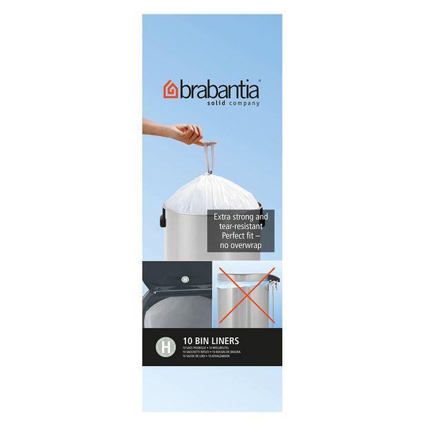 Brabantia Bin Liner Size H 50/60 Litre Pack of 10 offer at $14.99