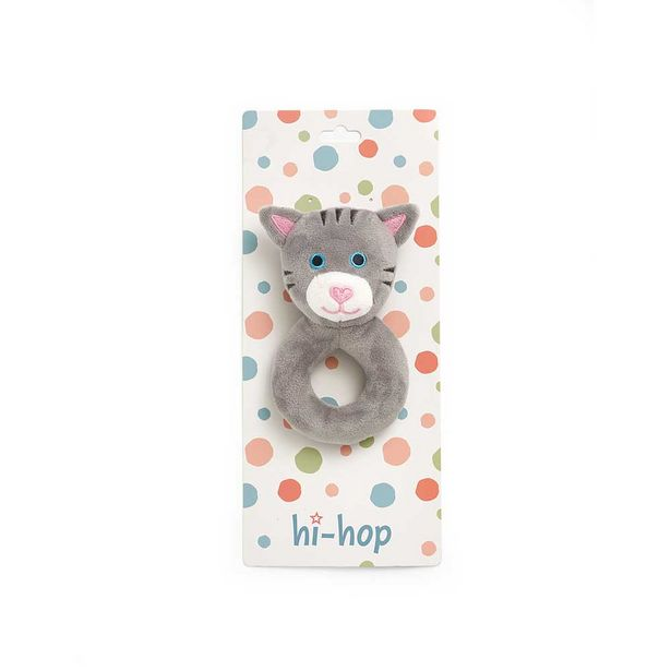 Hi-hop Kitty Cat Plush Rattle offer at $8.49