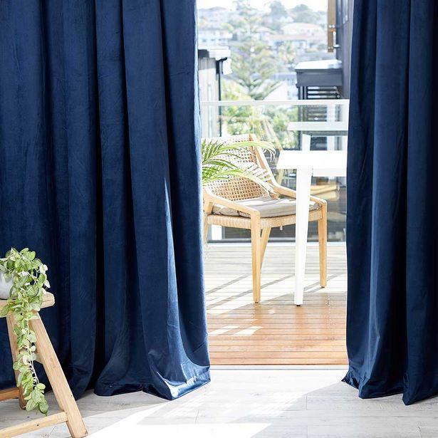 Royal Doulton Blanche Velvet Pencil Pleat Curtains Pair offer at $129.99