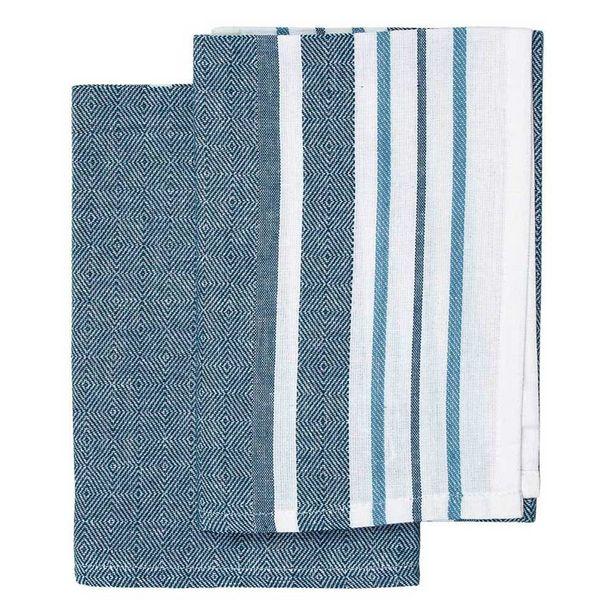 Just Home Abode Blue Napkin 45x45cm Pack 2 offer at $6.49