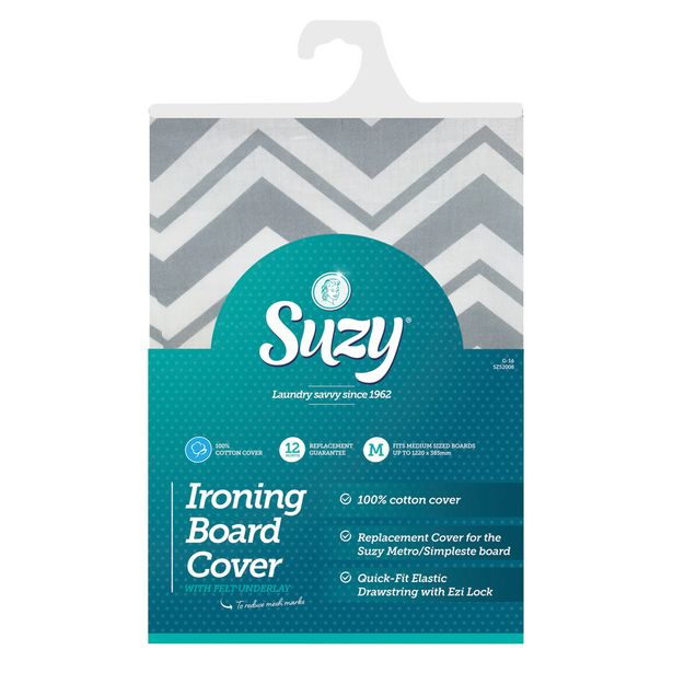 Suzy Cotton Ironing Board Cover & Underlay Cotton Set Assorted offer at $22.99