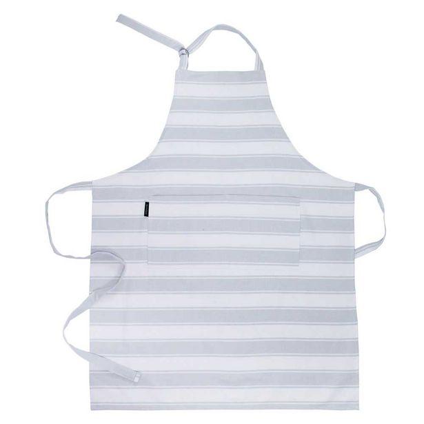 Simon Gault Butchers Stripe Apron Grey offer at $11.99
