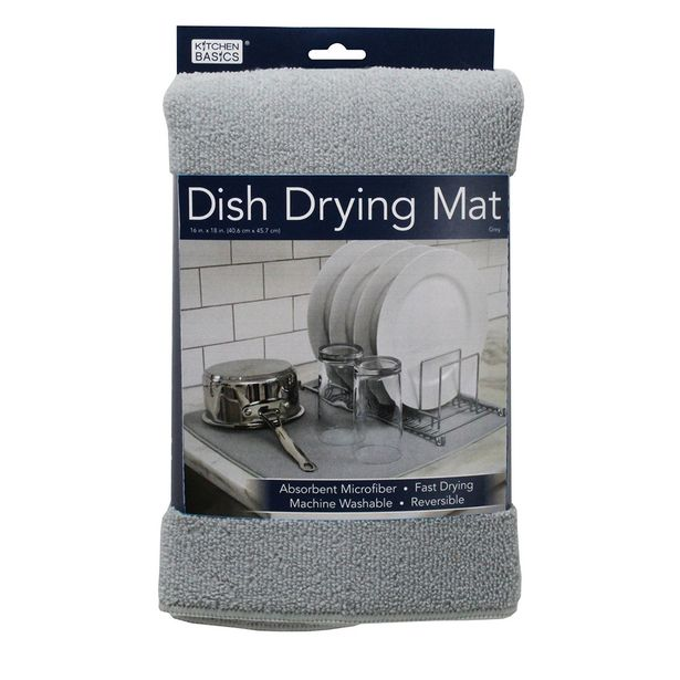 Kitchen Basics Dish Dry Mat Grey offer at $9.99