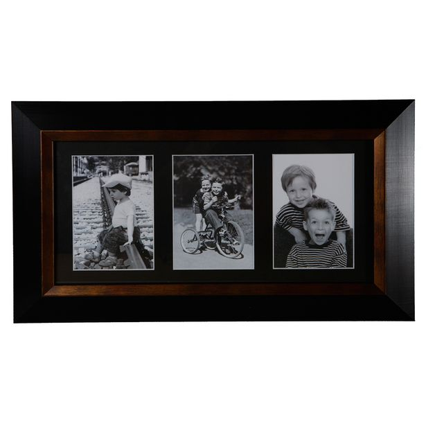 Image Multi Triple Photo Frame Black offer at $19.99