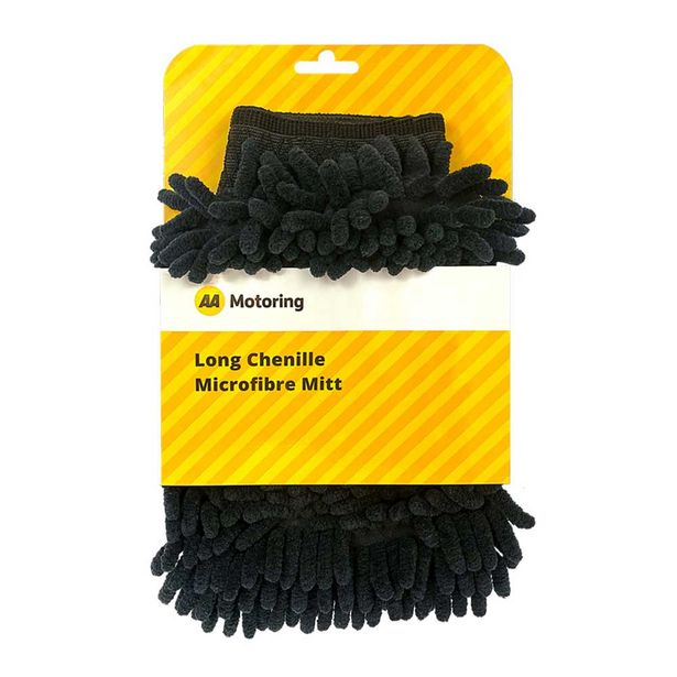 AA Motoring Car Cleaning Microfibre Mitt Charcoal offer at $9.99