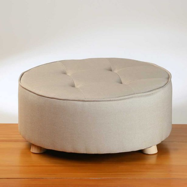 Home & Styling Pouf Beige offer at $89.99