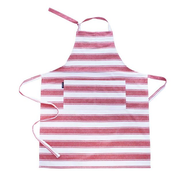Simon Gault Butchers Stripe Apron Red offer at $11.99