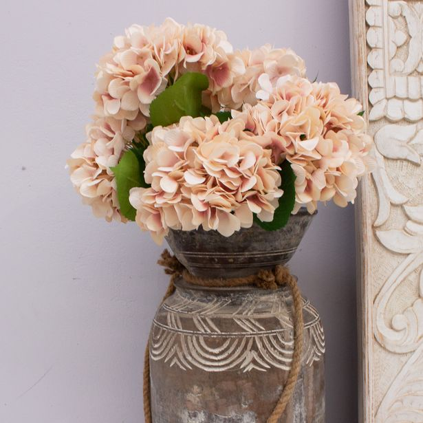 Artificial Hydrangea Antique Blush 67cm offer at $11.49