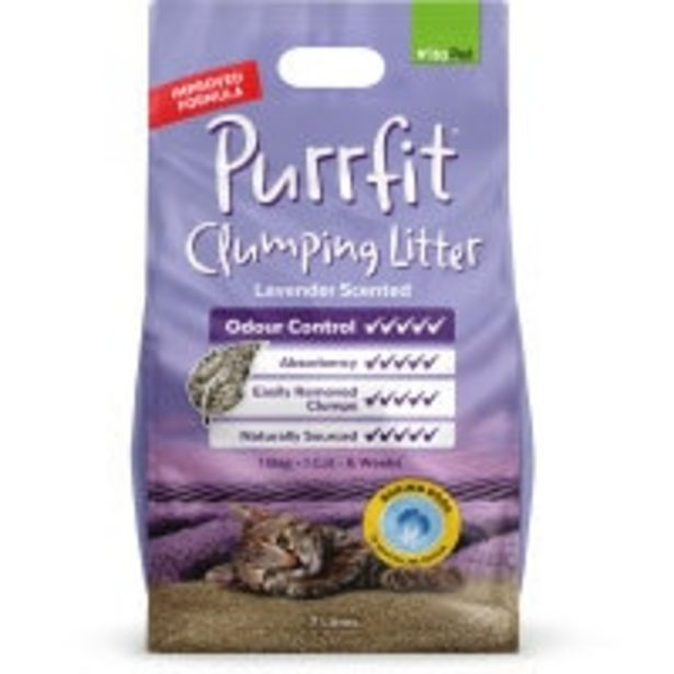 Vitapet purrfit cat litter lavender clumping offer at $10