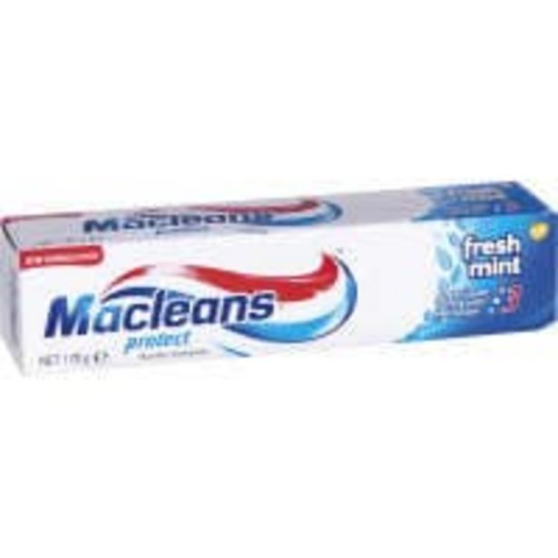 Macleans protect toothpaste freshmint offer at $2.5