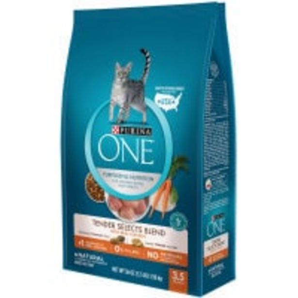 Purina one dry cat food tender select with chicken offer at $18