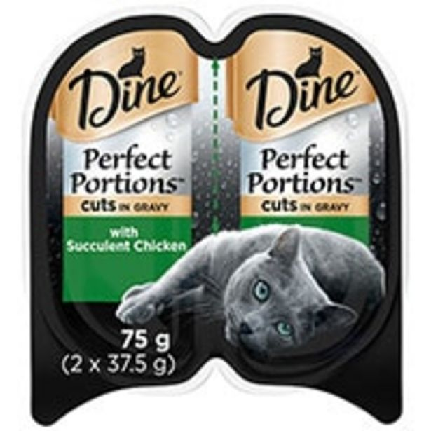 Dine perfect portions cat food cuts in gravy succulent chick offer at $1