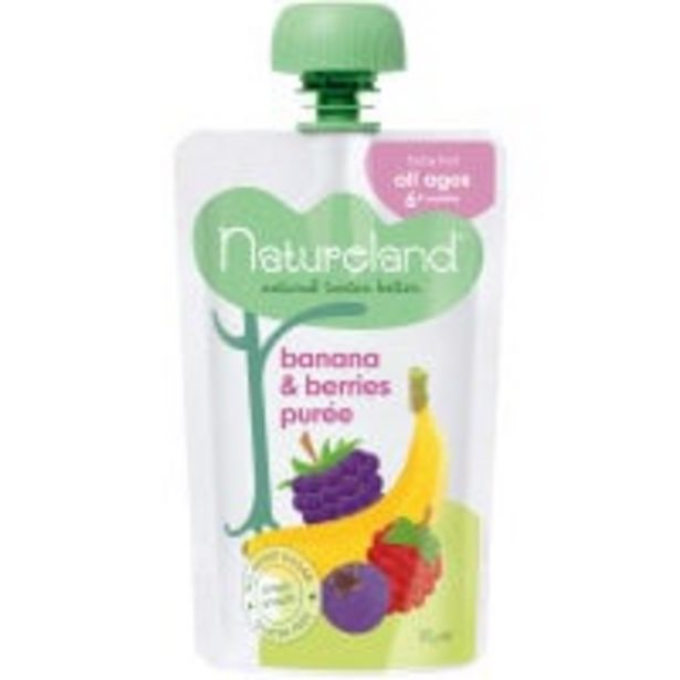 Natureland baby food banana berry puree offer at $1.8