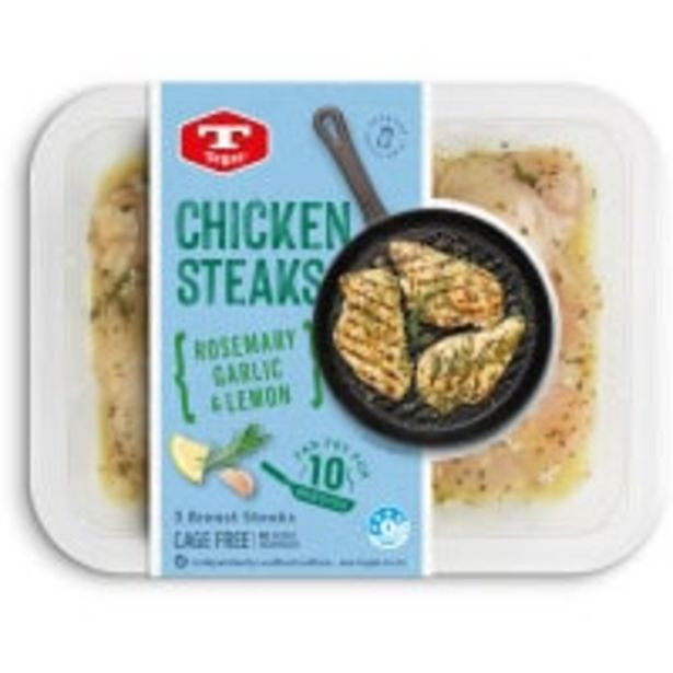 Tegel chicken breast steak rosemary garlic & lemon offer at $8.5