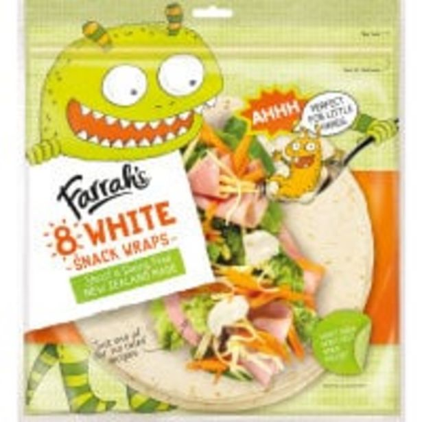 Farrah's wraps premium white snack offer at $5.5