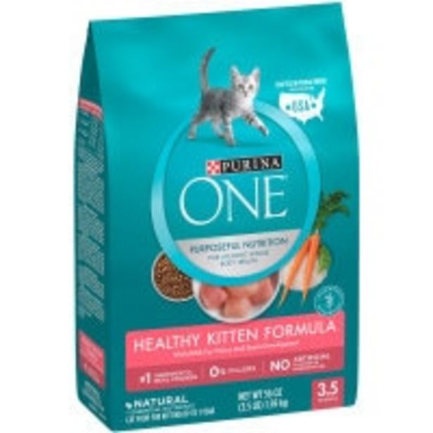 Purina one dry cat food healthy kitten offer at $16